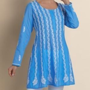 Soft Surroundings Mumbai Nights Blue Tunic